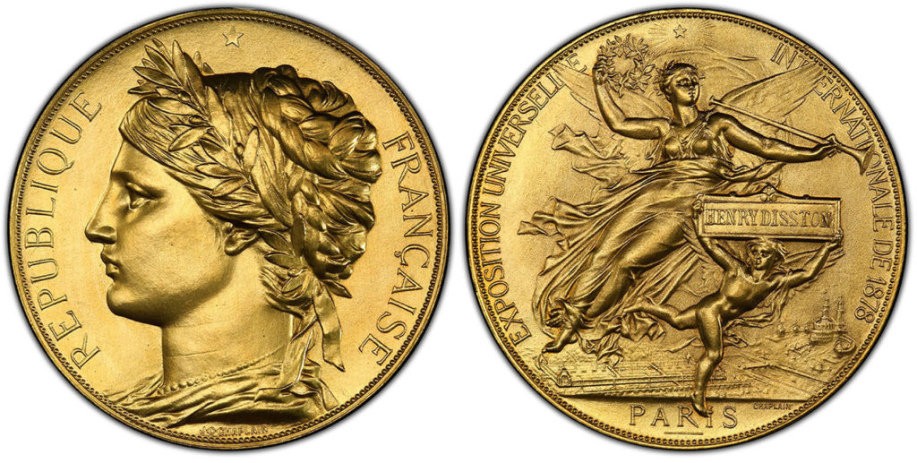 フランス1878年パリ万博ゴールドメダルPCGS MS64 | PREMIUM GOLD COIN